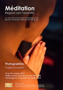 Affiche exposition Odile Foubert Photographie
